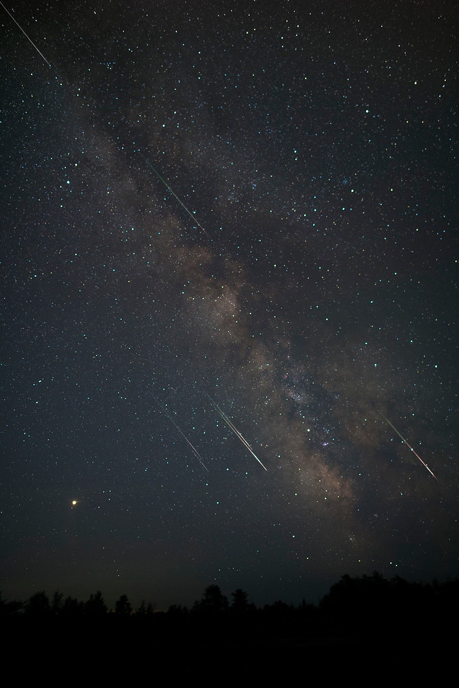 Perseids Through Milky Way